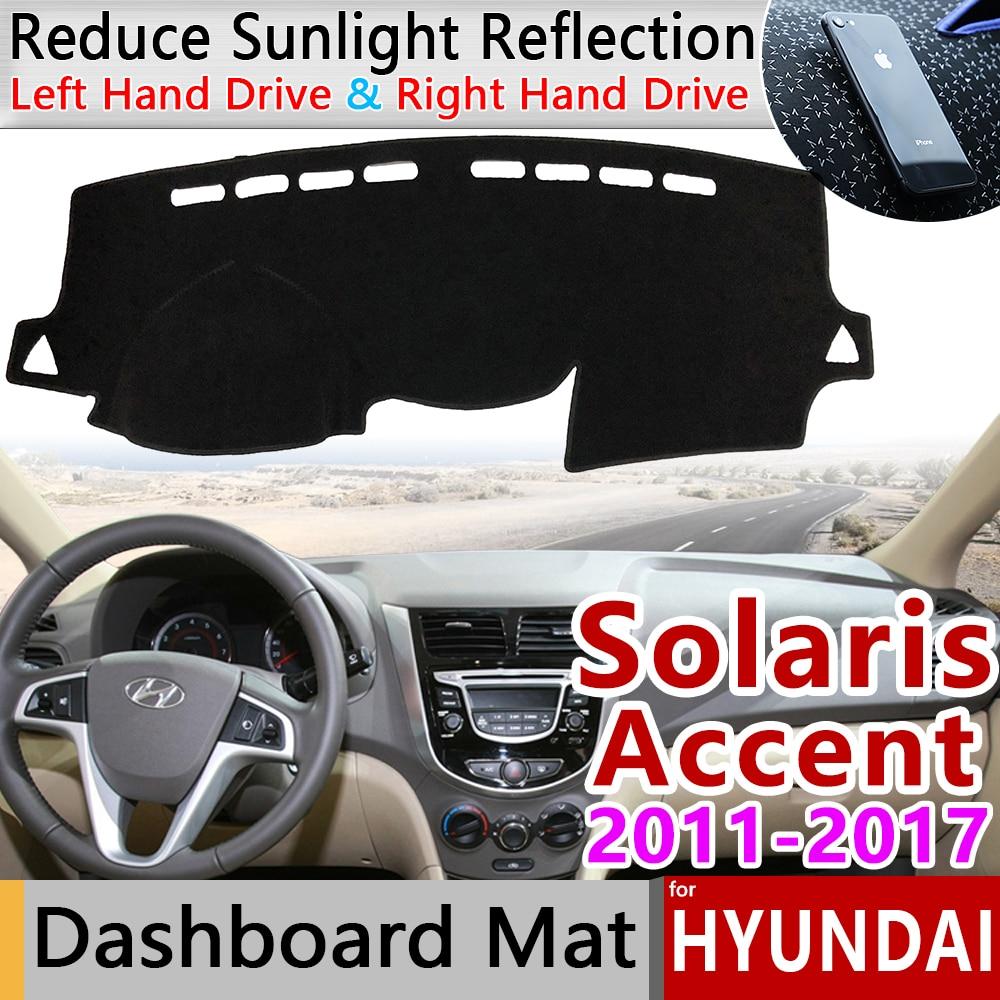 For Hyundai Solaris Accent 2011 2012 2013 2014 2015 2016 2017 RB Anti-Slip Mat Dashboard Cover Pad Sunshade Dashmat Accessories