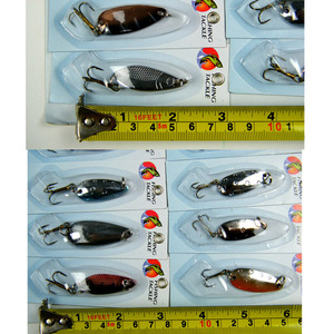 Image 2 - 30Pcs/set Assorted Fishing Lures CrankBait Laser Spinners Spoon Fishing Tackle Treble Hook Lure Spinner Metal Fishing Wobblers