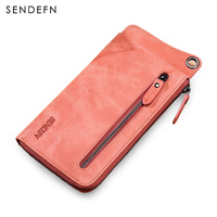 2018 New Wallet Antitheft Genuine Leather Wallet Women Hasp With Zipper Leisure Purse Large Capacity Purse