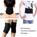 Apoio cintura auto-aquecimento Turmalina cinto terapia magnética guarda pescoço Turmalina joelheira proteção térmica joelheira 4 pc set