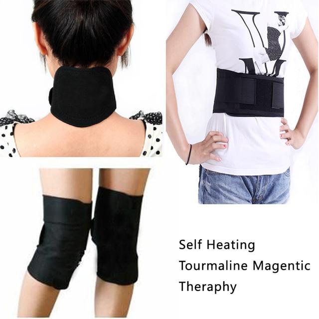 Auto-échauffement soutien de taille Tourmaline ceinture thérapie magnétique  protège-cou Tourmaline genou pad cb02437ca25