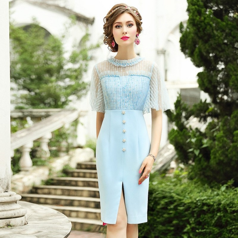 lady style Celebrities dress 2019 New Sexy split Beaded dresses Plus Size Women Clothing Vintage Party