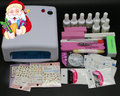 BTT-73 uv gel nail polish kit ,kit gel nail polish kit ,uv kit manicure with uv lamp,uv nail art set at free shipping