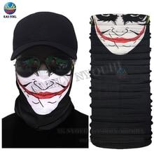 Новинка,, забавный дизайн лица, бесшовная маска для лица, маска для езды на велосипеде, многофункциональная трубчатая повязка на голову, шарф, повязка на голову, бандана с черепом