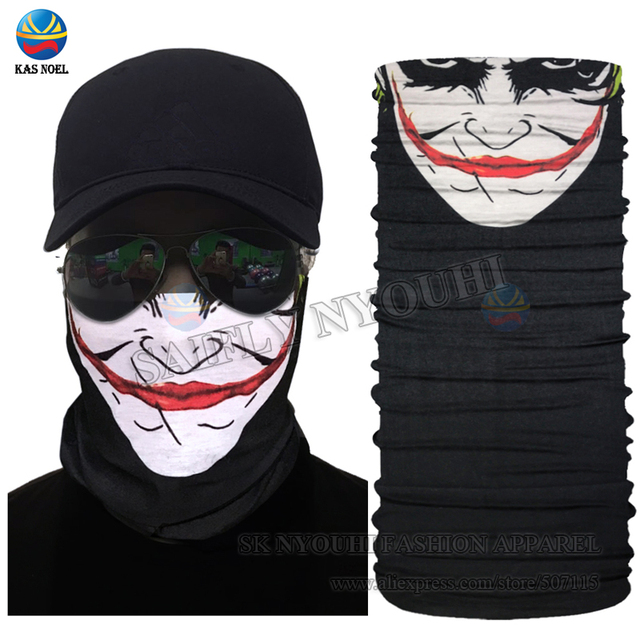New Hot Funny Face Design Seamless Face Shield Mask Outdoot Cycling  Multifunctional Headwear Tube Scarf Head Wrap Skull Bandana 0b669ac49