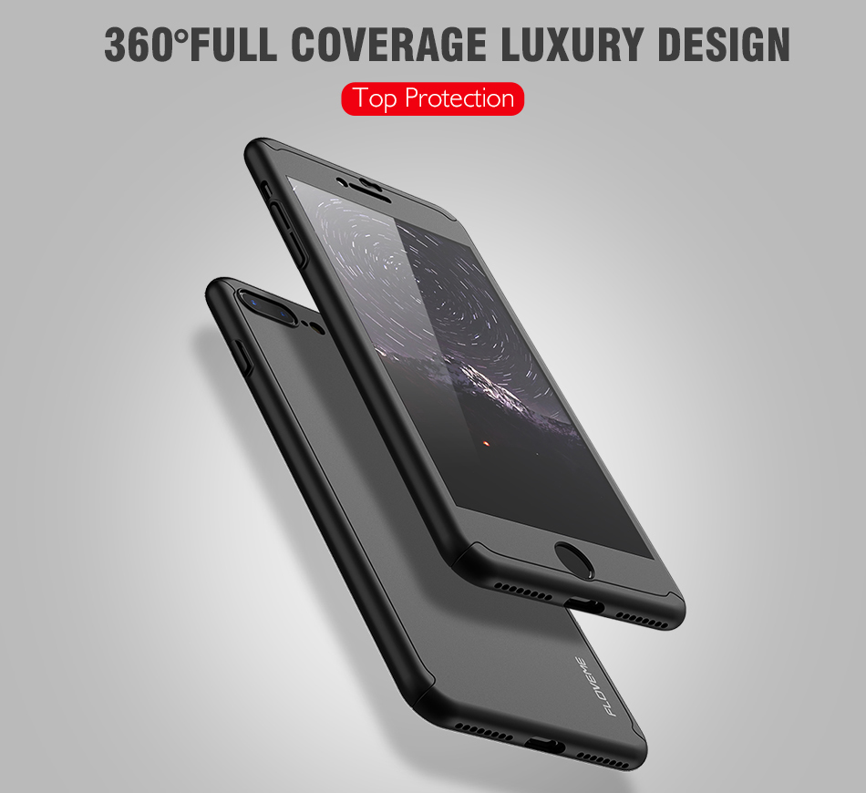 FLOVEME Luxury 360 Full Case For iPhone 7 7 Plus Glass Film Phone Accessories For iPhone 6 6S Plus Xiaomi Mi 6 Huawe P 10 Covers (1)