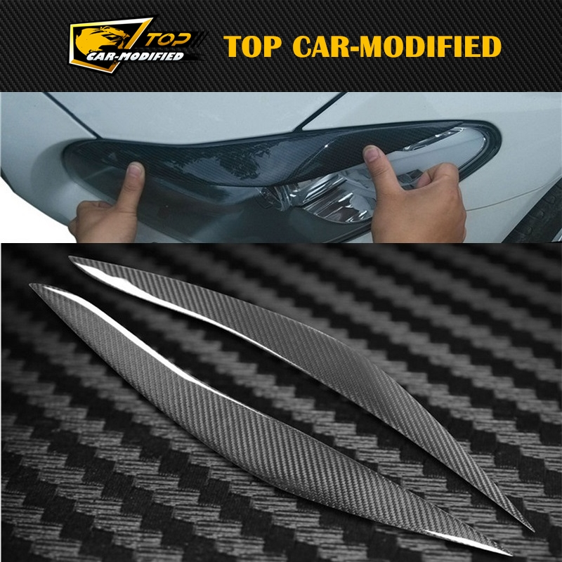 Free shipping 100% Real Carbon Fiber Headlights Eyebrows Eyelids for BMW 5 series F10 F18 523 525 520 530  2011-2017 free shipping carbon fiber headlight covers eyelids eyebrows fit for mazda 6 vi ruiyi 09 13