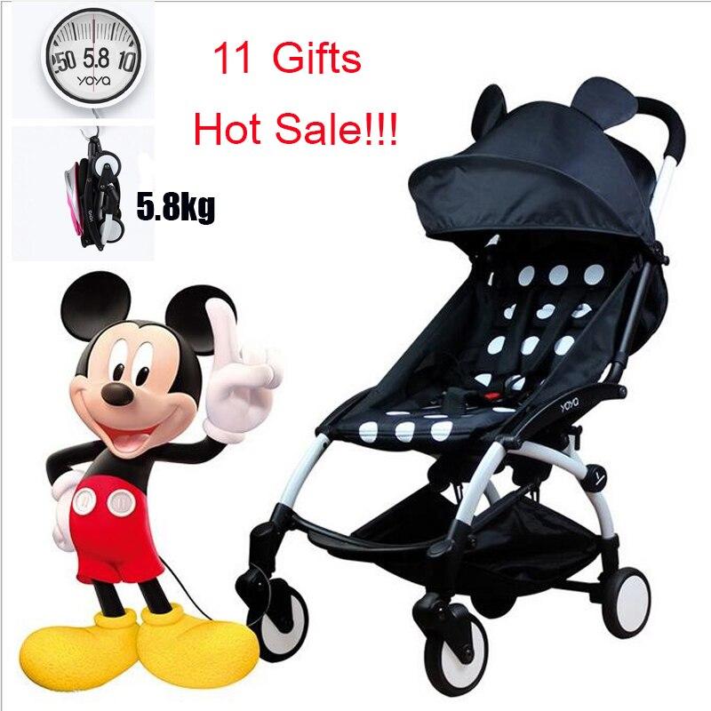 Yoya Baby Stroller 175 Degree Wagon Portable Folding baby Stroller Lightweight Pram Babyyoya Carriage Car Babyzen Yoyo Stroller цена