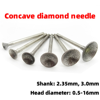 1Pcs Concave Nail Eye Pressing Needle Cap Bead Suction Engraving Tool Jadeite Grinding Diamond Point Bits Drill Head image