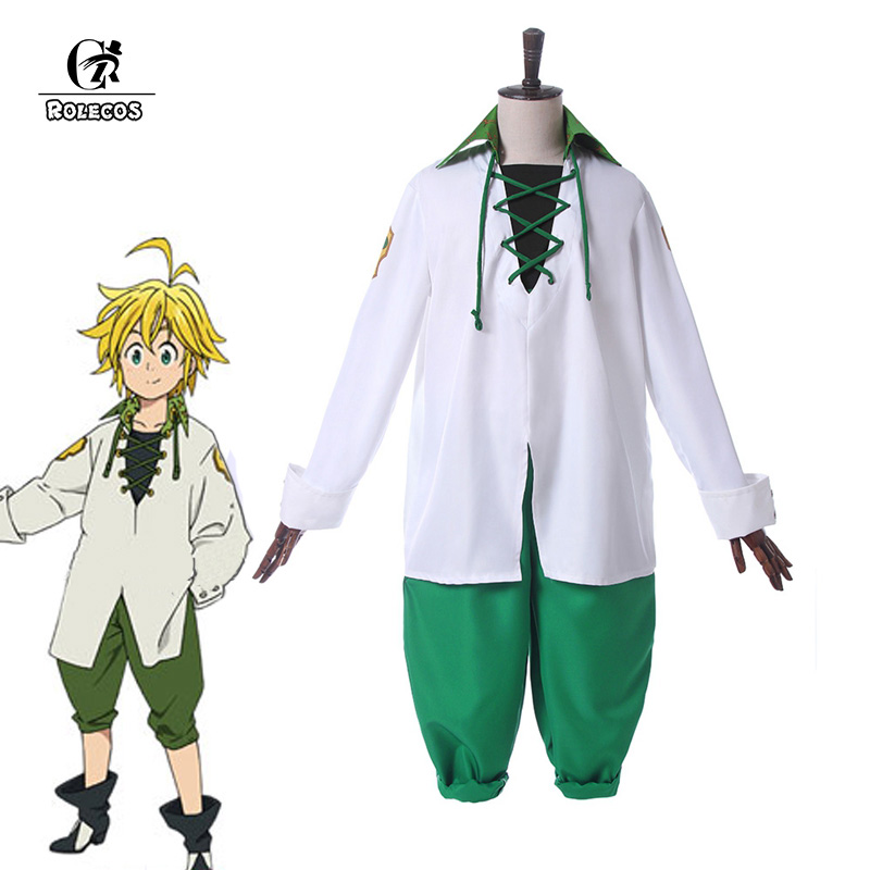 ROLECOS Meliodas Cosplay Costume The Seven Deadly Sins Anime Cosplay Revival of the Commandments Costume For Man Dragon's Sin