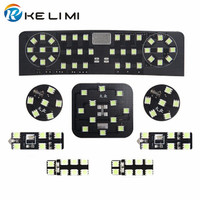 Kelimi White LED Reading light for Volkswagen Golf 6 LED kit interior dome lamps for vw GTI 8 pcs/set
