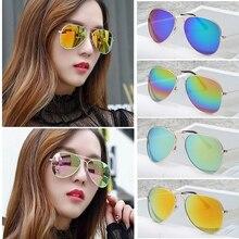 Moto carro de Condução Óculos HD Anti-Glaring UV400 Motorista Segurança Película de Revestimento dos óculos de Sol Dos Olhos Usar óculos de Aviador Goggle Colorido