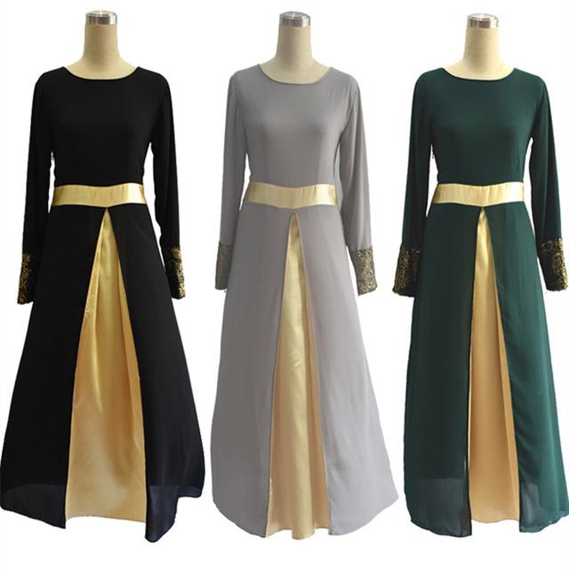 Womens Long Robe Dress Long Sleeve Vintage Chiffon Clothing