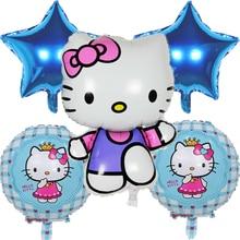 Cartoon Hello Kitty Foil Helium Balloons Set