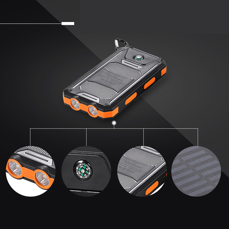 Latest Collection Of New Waterproof 50000mah Solar Panel Led Dual Usb Ports No Battery Diy Power Bank Case Battery Charger Kits Box Without Return Mobile Phone Adapters