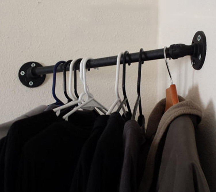 Wall Mounted Clothing Rack Home Decor