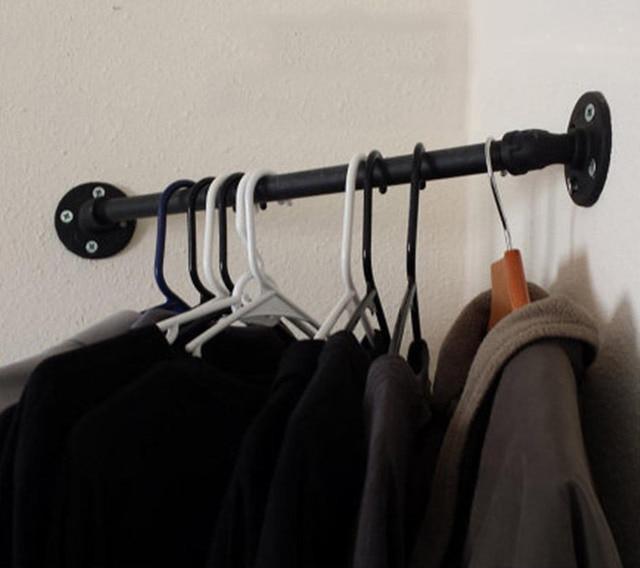 BATHROOM CORNER SHELF LOFT STYLE COAT HAT RACK HOOKS IRON CLOTHES Extraordinary Vintage Style Coat Hook Rack With Shelf