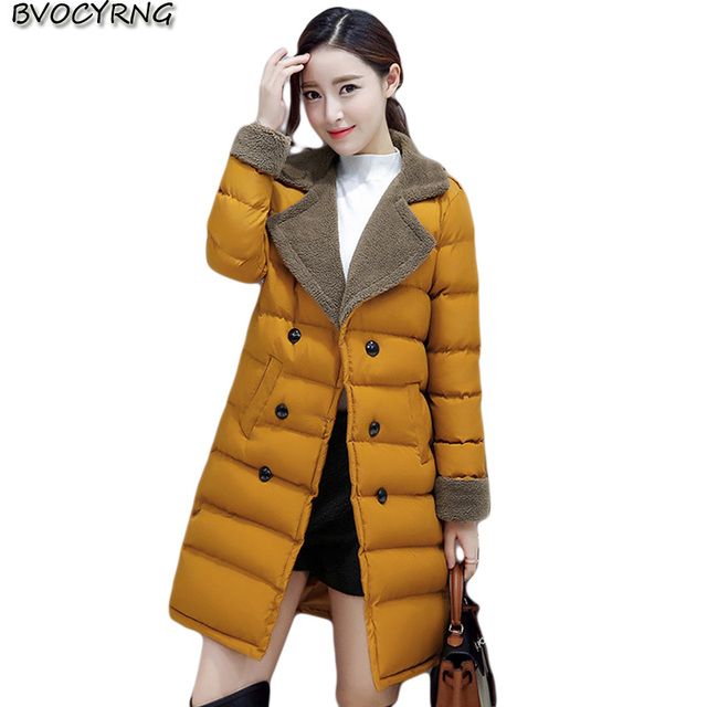 US48 45 Baumwolle Hohe Mode Schlank Feder Lange Frauen Lamm Korea Wintermantel Parka Qualität Jacke Mantel Hit Medium 49OFF Neue Verdickung Q797 Om80wNyvnP