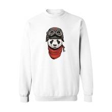 Panda in China Cartoon Sweatshirt Outerwear for Girls in Cute White Hoodies Woman Sweatshirts Spring Autumn Hoody 4xl