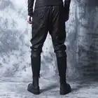 Зима 2018 новые мотоциклетные кожаные брюки мужские корейские версии tide плюс бархатные толстые ноги брюки мужские плотные брюки с заячьими у... - 4