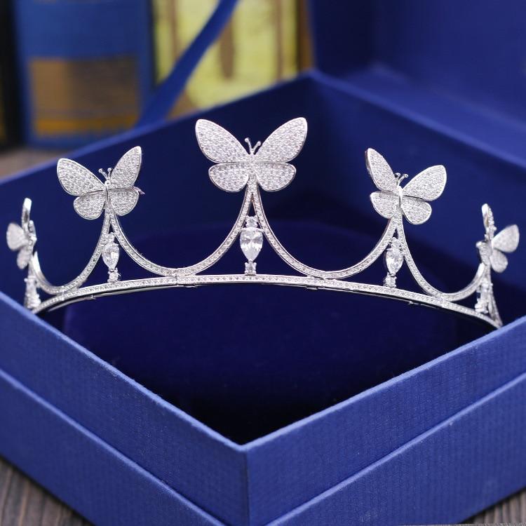 2017 New fashion micro-mosaic All Zircon crown bride headdress crown wedding hair ornaments birthday crown Big Beautyful crown