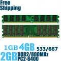 Hohe Qualität Memory Ram PC2-6400 DDR2 800Mhz 4GB 2GB 1GB für Desktop Memoria PC2-5300 DDR2 667MHz Kompatibel mit DDR 2 533Mhz
