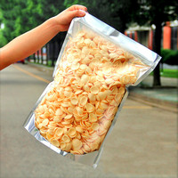 10pcs Aluminum foil translucent zipper bag 35*50cm large food packaging bag Ziplock bag moisture proof storage sealing pocket