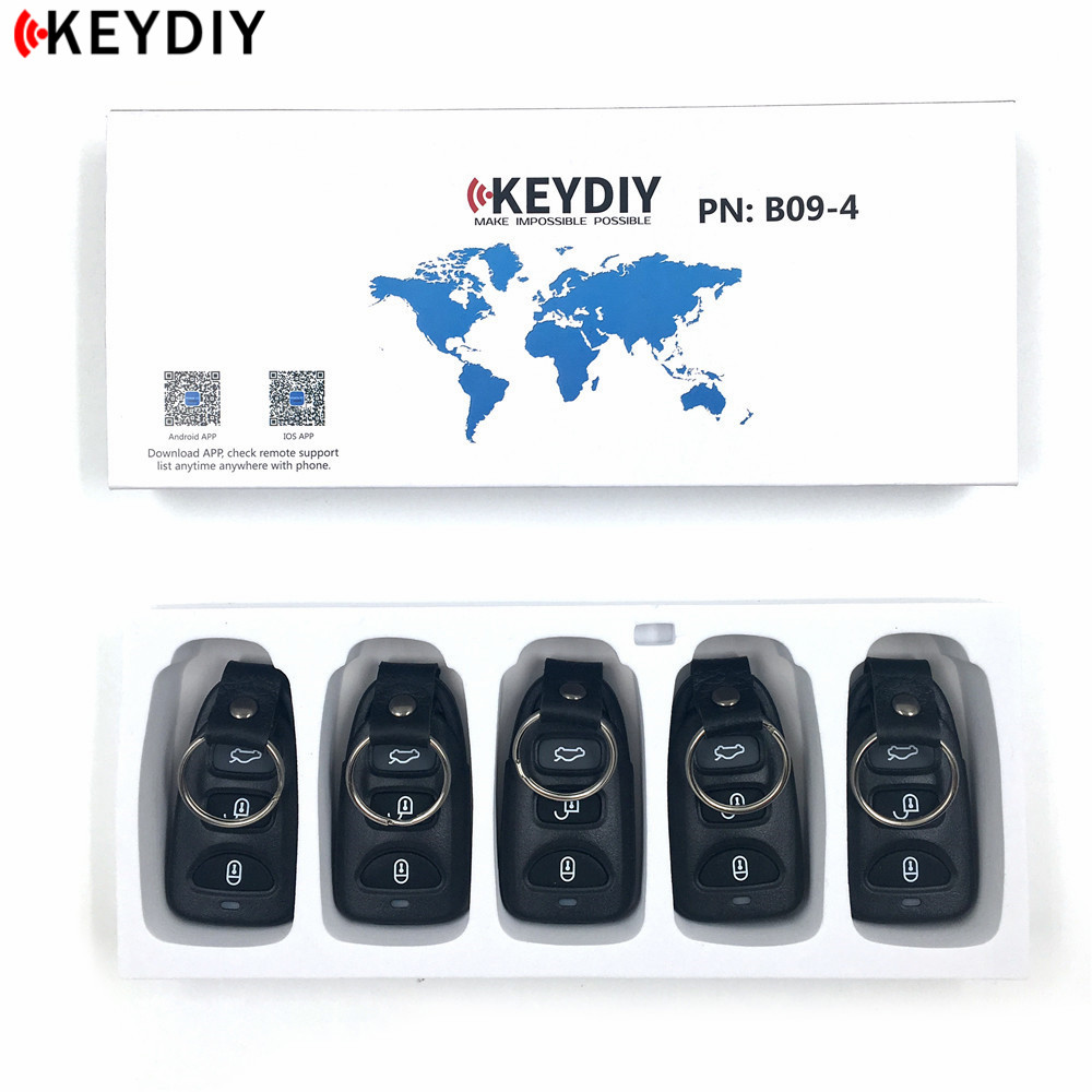 KEYDIY KD B09 4 For KIA Hyundai KD900 KD900 URG200 Key Programmer B Series Remote Control