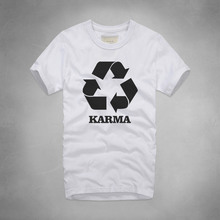 5f2308d9 Fashion Design Print Karma T Shirt Funny Letter Casual Letter Karma Recycle Men  T Shirt Farmous