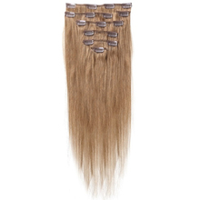 Best Sale Women Human Hair Clip In Hair Extensions 7pcs 70g 15inch Camel-brown
