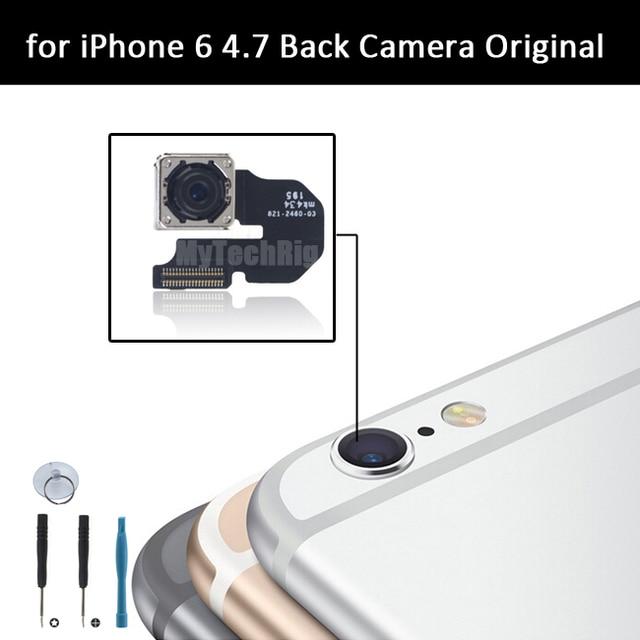 1 ШТ. для iPhone 6 Задняя Камера Оригинал; OEM Камера Заднего Вида Flex Запасная Часть для iPhone 6 4.7 с инструментами Бесплатная Доставка