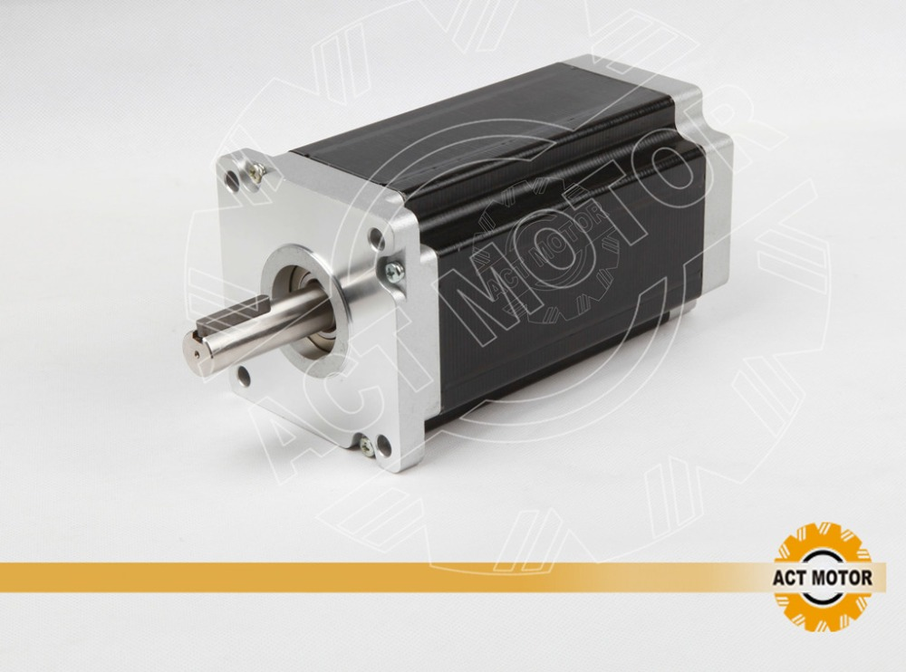 ACT MOTOR Nema 34 34HS1450D14L34J5-2 5*5*25C Key way shaft 4-lead nema 34 stepper motor 114mm / 5.0A / 1200 oz-in CUTTING MILL 4axis nema 34 1230oz in 5 0a stepper motor