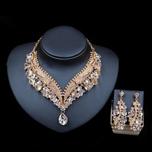 LAN PALACE new arrivals juwelen setjes vrouwen austrian crystal necklace and earrings wedding necklace free shipping