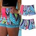 Summer Beach Athletic Shorts Women Fashion Casual High Waist Short Printed Cool Gym Cycling Fitness Shorts 41