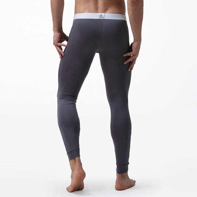 Mens Long Johns Underwear Solid Color Male Leggings Hombre Sexy Thermal Underpants Modal Elasticity Winter Termico Long Johns
