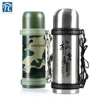 1200ml Outdoor Mountaineering Water Bottle Large Capacity Travel Pot Insulation Cup Stainless Steel Portable Drinkware Camping