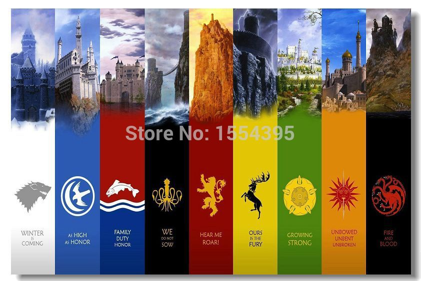 Custom Game of Thrones Season Modern Poster Fashion Stylish Home Decor  Retro Bedroom High Quality. Online Buy Wholesale game thrones season 1 from China game thrones