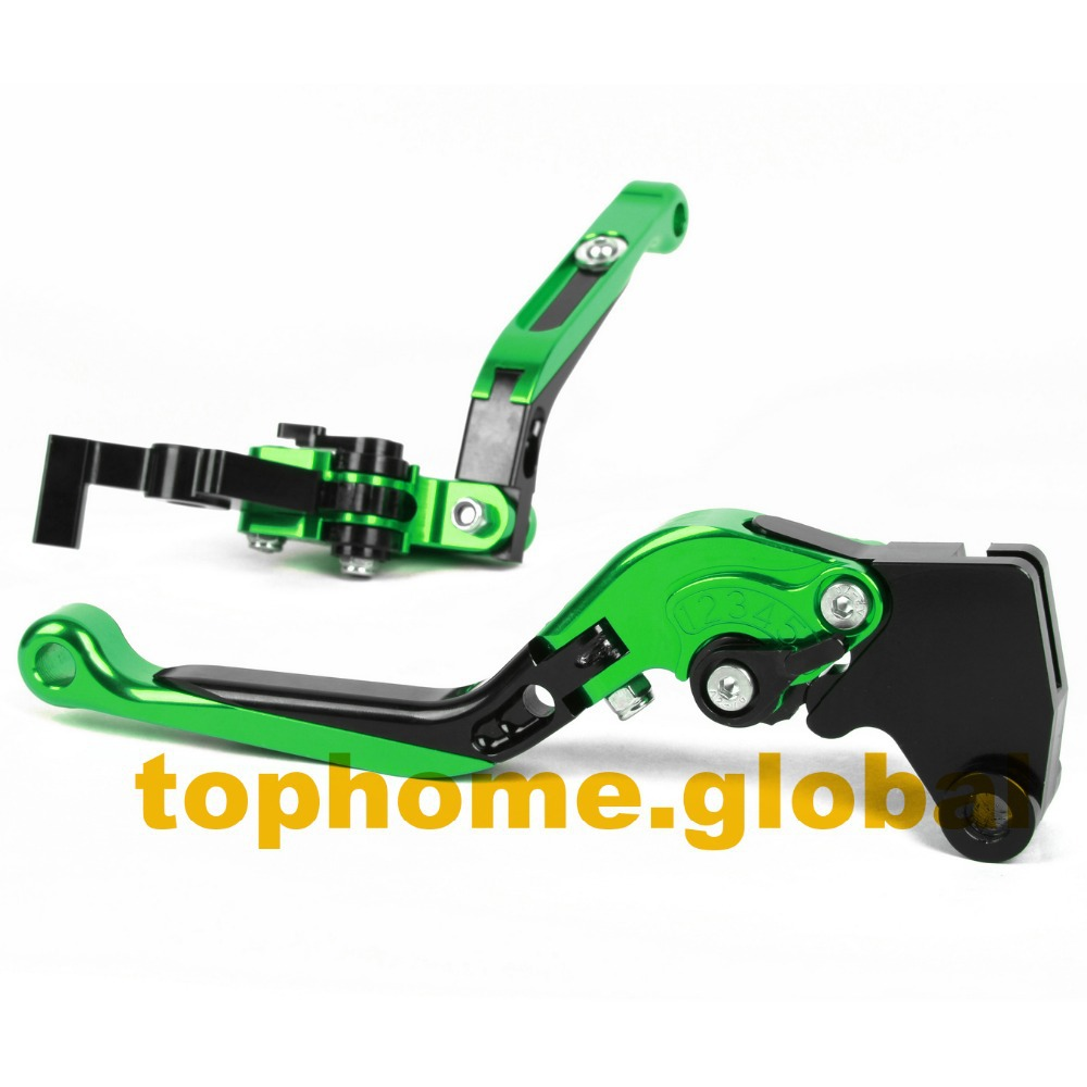 Аксессуары для мотоциклов CNC складные и удлиняющие тормозные рычаги сцепления для Kawasaki NINJA 400R 2011
