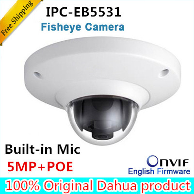 Dahua Original IPC-EB5531 5MP H.265 Fisheye dome Camera replace IPC-EB5500 English Language IP Camera DH-IPC-EB5500 without logo