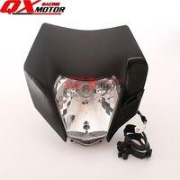 Dirt Bike Motocross Motocykl Supermoto Uniwersalny Reflektorów dla 14-16 KTM EXC SX F XCF SMR BSE J5 250cc reflektor