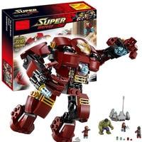 New 248pcs Marvel Super Heroes Avengers DIY Model Building Blocks Ultron Figures Iron Man Hulk Buster Bricks Toy Kid's Gifts