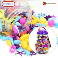 150 300 500pcs Girl Beads DIY No String Beads Make Up Puzzle Toys Jewelry Necklace Bracelet