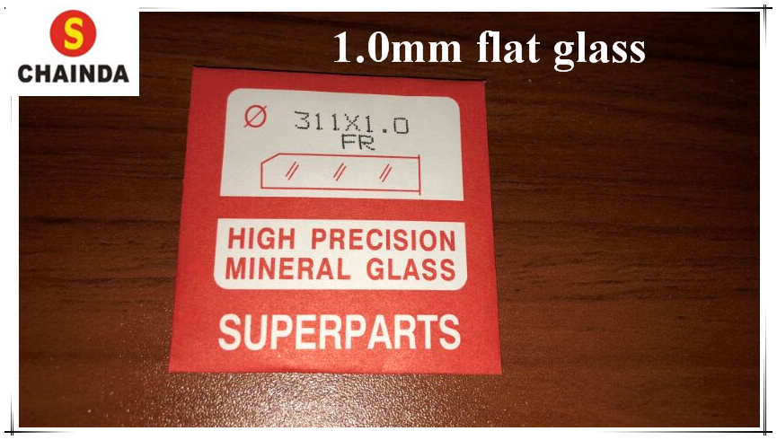 1 مجموعة عالية الجودة 1.0 MM سميكة مصقول جولة الطائرة المعدنية الزجاج لمشاهدة استبدال-في أدوات ومعدات إصلاح من ساعات اليد على  مجموعة 1