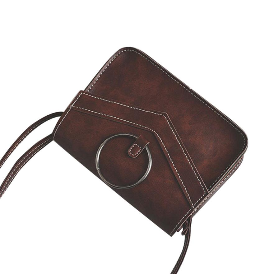 Для женщин Мода Искусственная кожа ретро просто сумка женская сплошной цвет пряжки квадратная мини Сумочка # F
