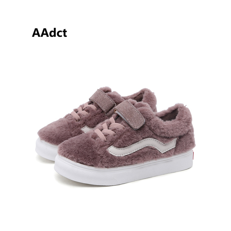 AAdct winter cotton fur warm girls shoes Brand High-quality fashion kids shoes for boys running sports children sneakers aadct 2018 new fashion soft girls boys shoes running sports kids shoes sneakers brand spring autumn children shoes