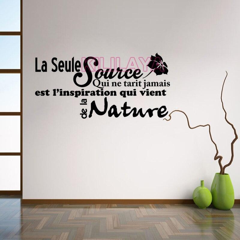 Fran ais citation inspiration vinyle autocollant stickers for Autocollant mural francais