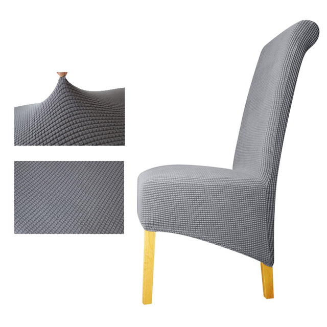 Ordinaire Polar Fleece Fabric XL Size Long Back Plaid Chair Cover Seat Covers Chair  Covers Restaurant Hotel