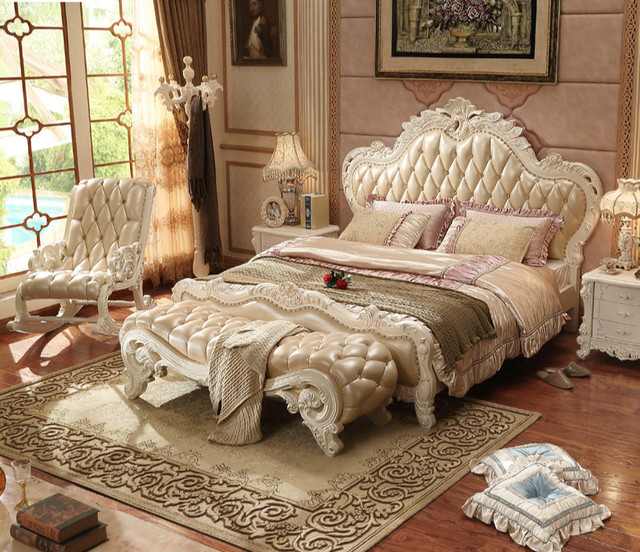 wholesale 2017 Home Furniture solid wood bedroom furniture PRF079-in ...