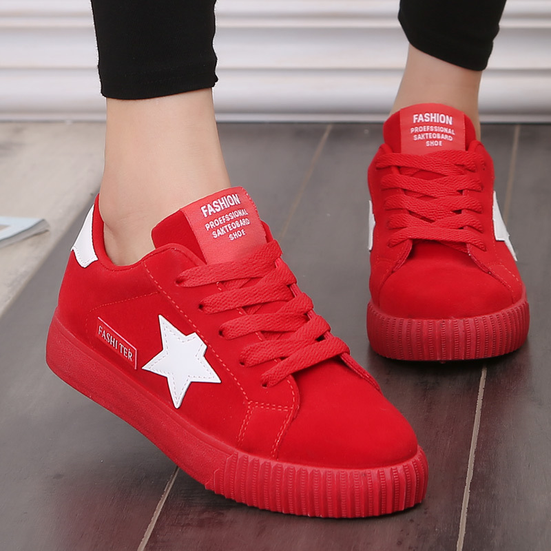 Fashion Star Women Shoes Women Casual Shoes Lace Up Women Flat Shoes Pink 2018 New Women Sneakers Round Toe Female Shoes beffery 2018 new fashion sneakers women genuine leather lace up flat platform shoes for women fashion star casual shoes a1md701