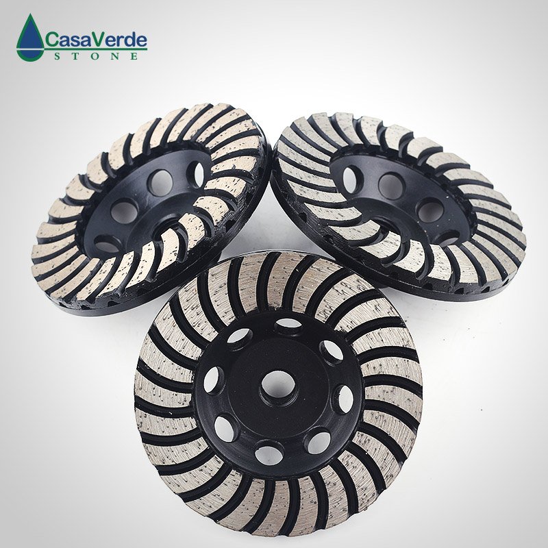 Free shipping coarse/ medium/fine grit 4 inch diamond turbo cup wheels M14 thread for grinding concrete and stone 3pcs/ set 3pcs 2 6 inch grit 240 600 1000 kit thin flat diamond stone sharpeners knife fine medium coarse